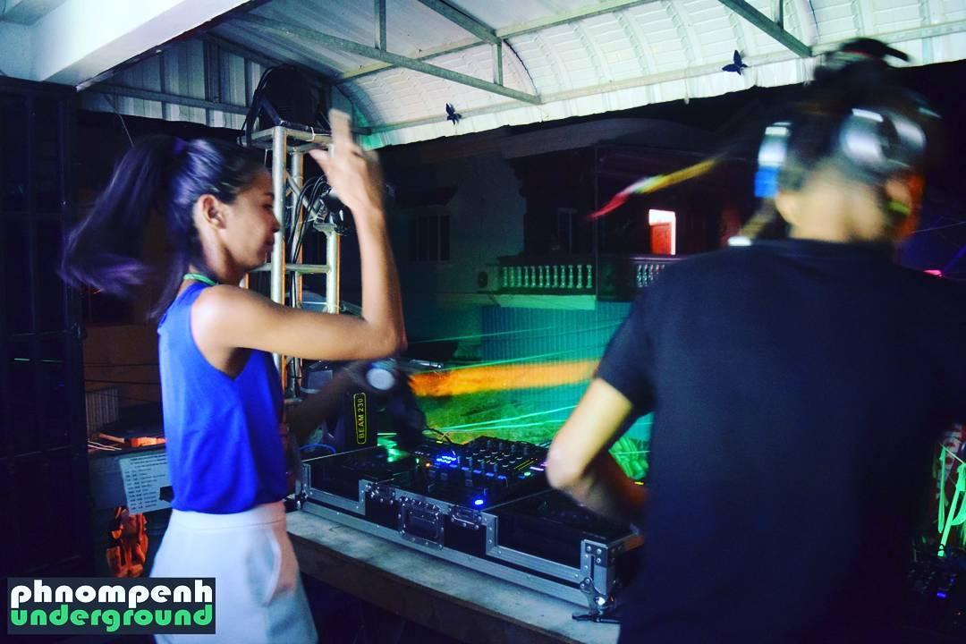 Phnom Penh Underground 3rd Birthday Street Party 210117 DJ Norahellip